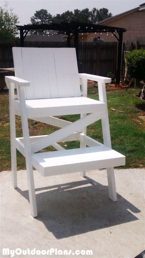 diy lifeguard chair myoutdoorplans  woodworking