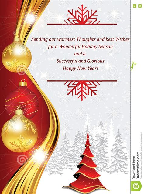 printable christmas cards for employees new year corporate greeting card stock illustration