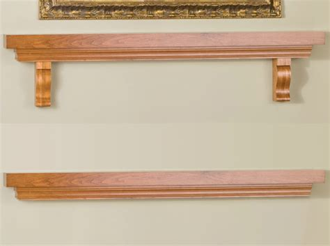with brackets fireplace mantel shelf modern
