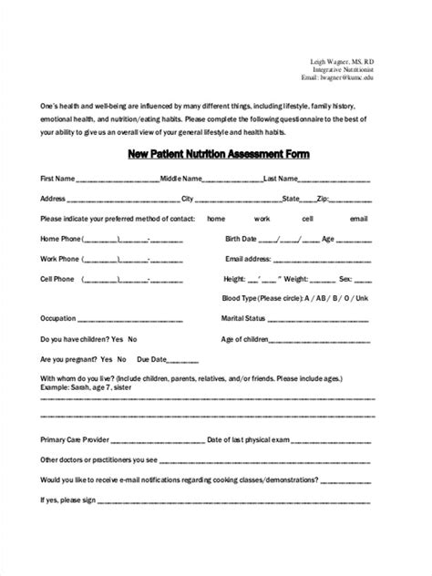 new patient intake form template enom warb co