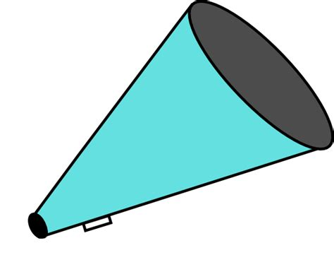 megaphone clipart adjusted megaphone teal clip at clker vector