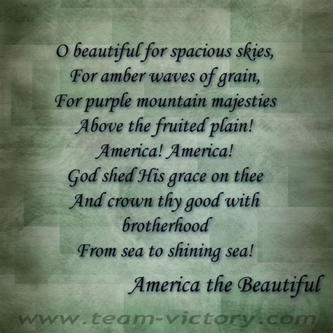 America America God Shed His Grace On Thee by America America God Shed His Grace On Thee And Crown Thy