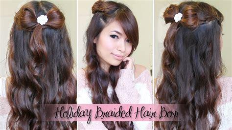 diy hairstyles bebexo dutch braid hair bow half updo hairstyle for medium long