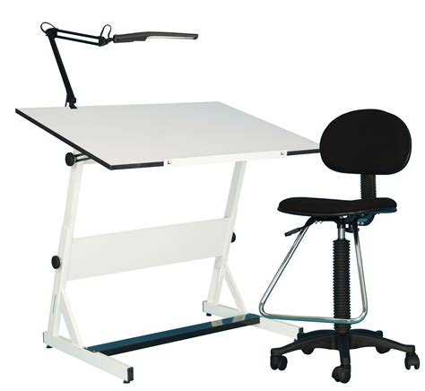 white drafting table white drafting stool artist drawing desks modern desk