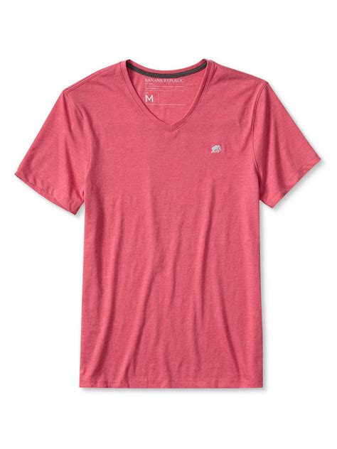 Banana Republic Soft Pink Vneck banana republic signature v neck in pink for heliconia lyst
