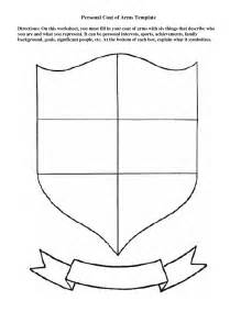 personal coat of arms template education pinterest