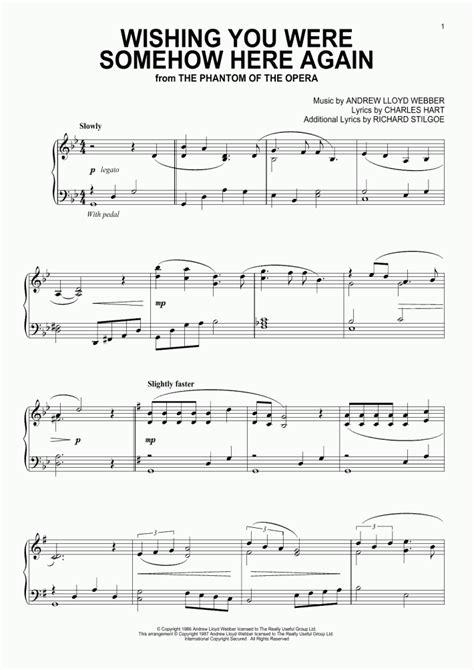 Wishing You Were Somehow Here Again Piano Sheet Music