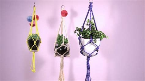 Make Plant Hanger - diy make a macrame plant hanger
