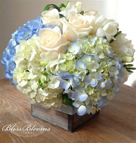 baby shower flower arrangements blue centerpieces