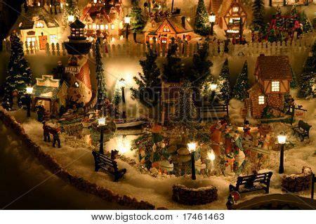 mini christmas village houses christmas village miniature houses image photo bigstock