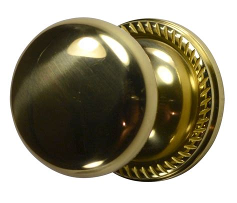 Brushed Brass Door Knobs by Solid Brass Door Knob Georgian Roped Plate Polished