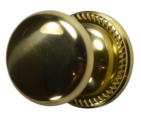 Brass Door Knobs by Solid Brass Door Knob Georgian Roped Plate Polished