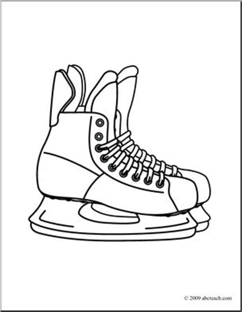 hockey skates coloring pages hockey skate clipart 101 clip art
