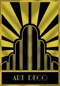 Art Deco by Art Deco Poster Title Digital Art By Chuck Staley