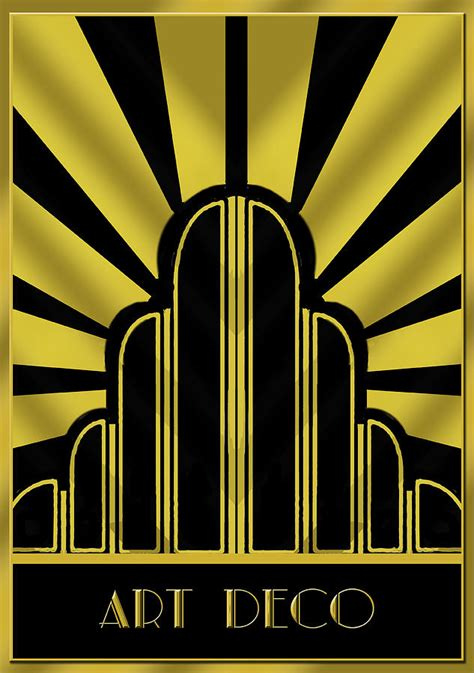 art deco art deco poster title digital art by chuck staley