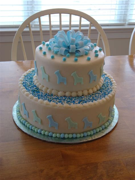 one tier baby shower cake 2 tier baby shower cake cakecentral