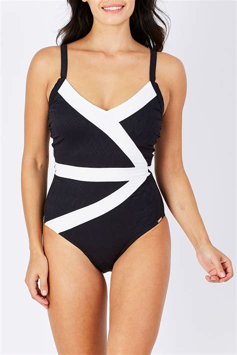 Swimwear Swimsuit Pakaian Renang 1 new capriosca womens one wrapped one classique ebay
