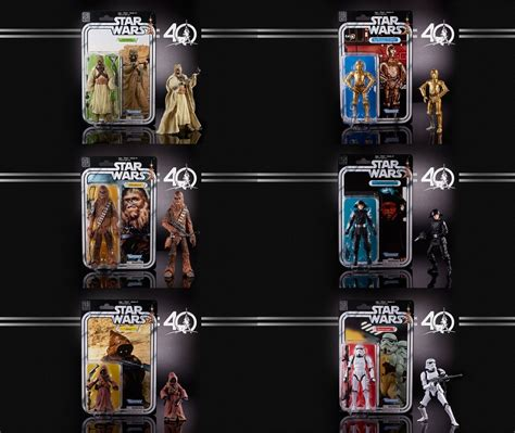 star wars anniversary star wars 40th anniversary wave 2 set of 6 kapow toys