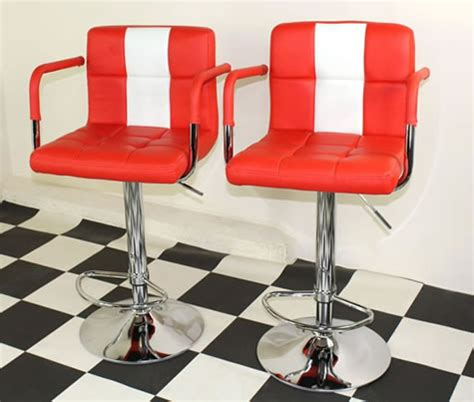 American Diner Style Bar Stools by Pair Of Tarina Retro Style Kitchen Breakfast Bar Stool