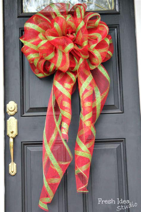 big diy holiday bows diy christmas christmas bows
