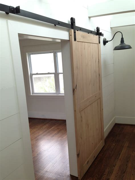 interior sliding barn door for home and hardwood floor