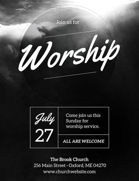 diy church event flyer template heavenly worship
