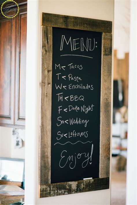 kitchen chalkboard menu zest it up