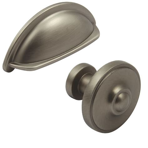 Pewter Finish Kitchen 95mm Cabinet Cup Handle And 33mm Door Knobs And Handles For Kitchen Cabinets