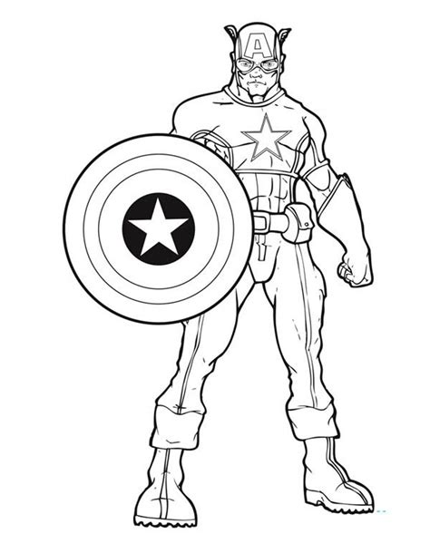 Captain America Color Pages free shield of captain america coloring pages