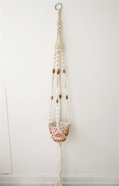 Macrame Hanging Basket - macrame hanging basket baskets and all things woven