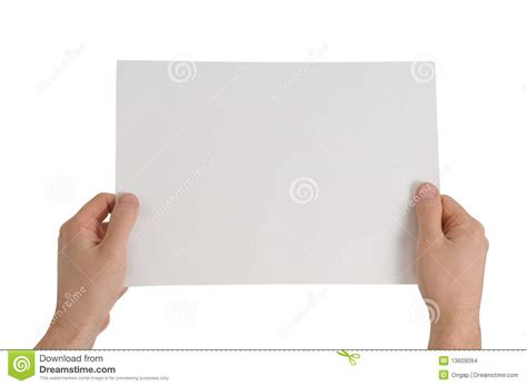 How To Make Paper Holding - holding paper stock images image 13609094