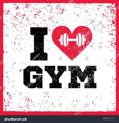 imagenes i love gym love gym workout fitness motivation quote stock vector