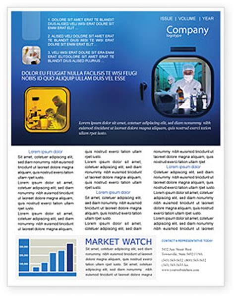 Laboratory Research Newsletter Template For Microsoft Word Adobe Indesign 01819 Download Now Science Newsletter Template