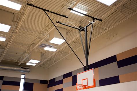Suspended Ceiling Height Forward Fold Front Braced Backstop Arizona Courtlines