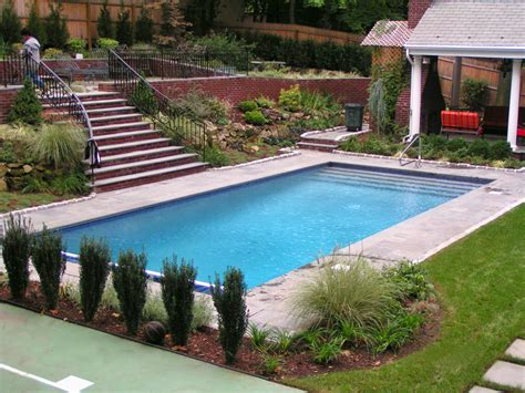 with pool semi inground pool with deck swimming pool installs