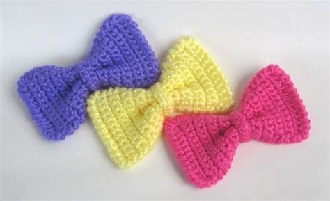 free crochet bow pattern crochet bow tie pattern crochet for beginners