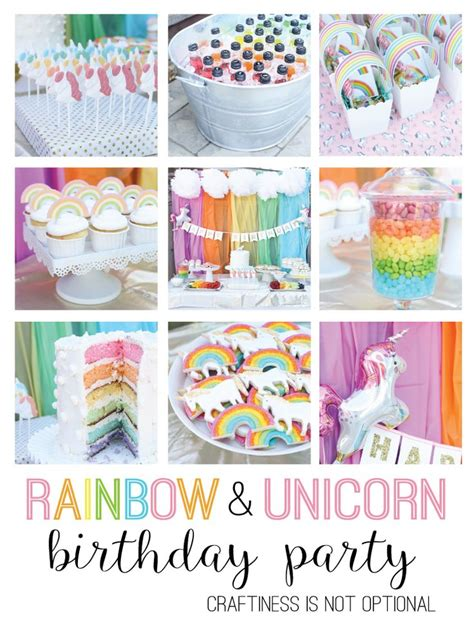 rainbows and sparkles birthday party ideas birthdays 17 best ideas about rainbow unicorn party on pinterest
