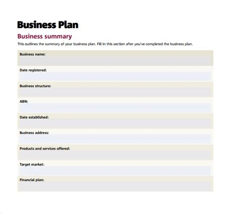 16 Sle Small Business Plans Sle Templates Free Business Plan Template Pdf