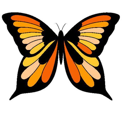 imagenes de dos mariposas juntas dibujo de mariposa 8 pintado por monarca en dibujos net el