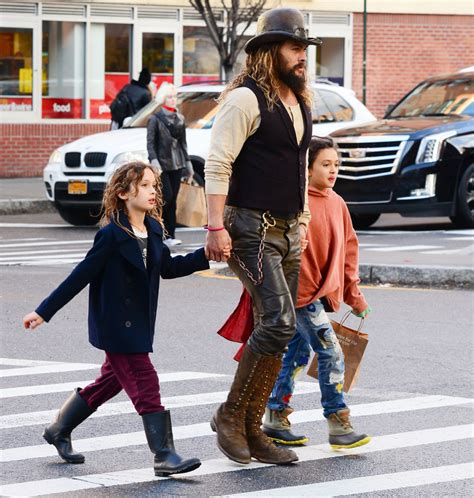 Jason Momoa Takes A Stroll With His Kids In Soho Sandra Rose