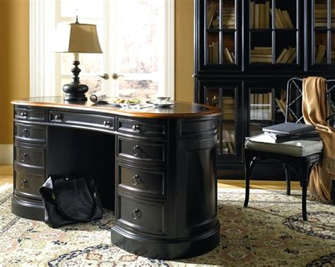 luxury home office furniture design of weathered black