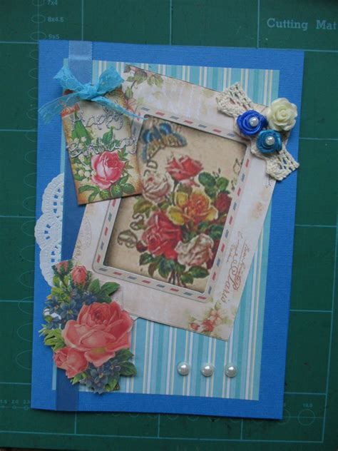 Handmade Vintage Birthday Cards - handmade vintage floral birthday cards felt