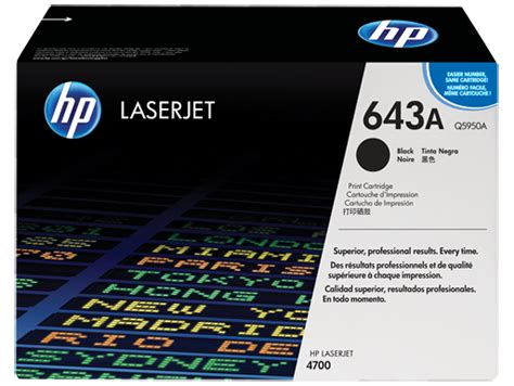 Toner Q5950a hp 643a black original laserjet toner cartridge q5950a