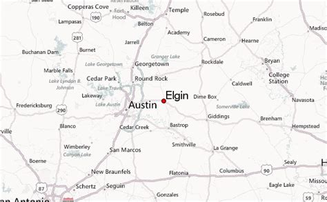 elgin texas map elgin texas location guide