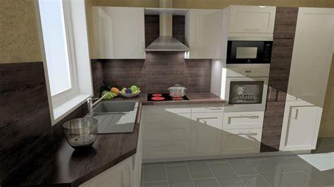 günstige hochglanz küchen kueche eiche und weiss
