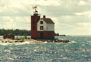 al s lighthouses michigan island lighthouse