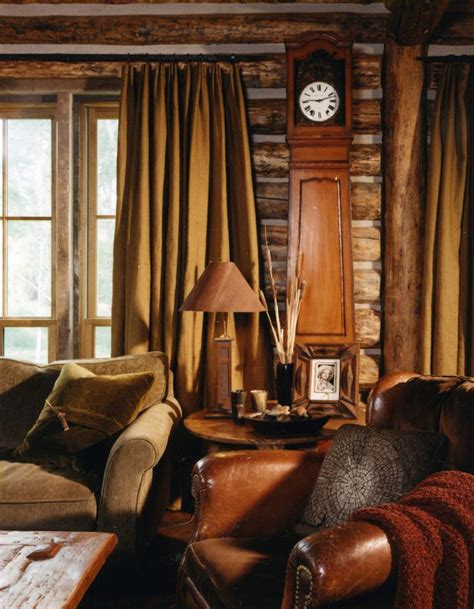 rustic family room rustic design ideas canadian log homes