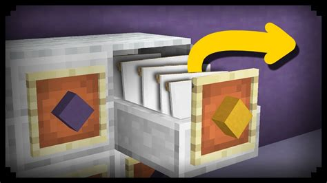how to build a file cabinet minecraft how to make a working filing cabinet youtube