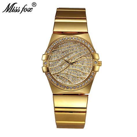designers watch miss fox weave gold watch women famous brand quartz golden