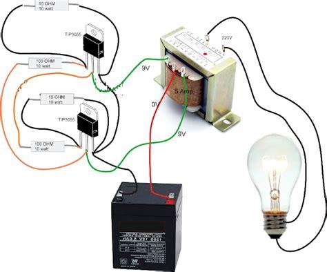 rangkaian sederhana inverter dc  ac anti njlimet